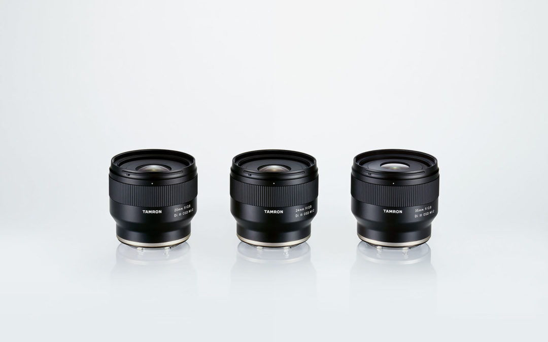 Három fix gyújtótávolságú objektívet jelentett be a Tamron a Sony E-mount full-frame tükör nélküli kamerákhoz